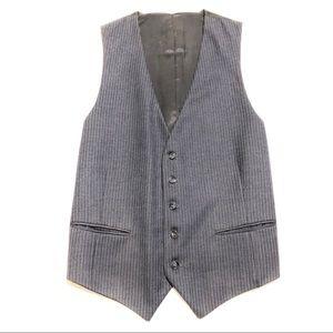 Blue/Gray Vintage YSL Pinstripe Vest